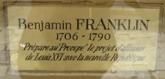 Café Le Procope - English: Benjamin Franklin plaque at Le Procope in Paris.