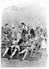 Café Le Procope - English: Café de Procope in Paris in 1743.