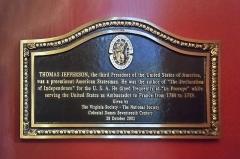 Café Le Procope - English: Historical marker for Jefferson in the Cafe Procope