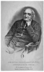 Collège Stanislas -  Portrait de Jean-Philippe-Auguste Lalanne (lithographie) directeur du Collège Stanislas de Paris et de l'Institut Stanislas de Cannes
