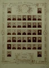Collège Stanislas -  Concours Général au collège Stanislas (Paris, 6e arrond.) en 1894. Photographie de Pierre Petit, 39 x 29 cm. Collection particulière.