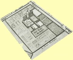 Couvent des Carmes - English: Les Carmes déchaussés de la rue de Vaugirard, extrait du plan de Bullet et Blondel, 1676, modifié