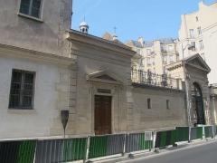 Couvent des Carmes - Français:   Panneau histoire de Paris devant l\'ancien couvent des Carmes, 70 rue de Vaugirard (Paris, 6e).