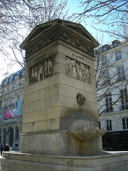 Fontaine du Marché-Saint-Germain -  Fontaine de la Paix, rue Bonaparte, Paris.