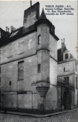 Hôtel de Foretz ou Bullion -  Postcard of 21 rue Hautefeuille in Paris, dated begining 20th century (1900-1910)