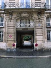 Hôtel de Montmorency-Bours -  Doorway, Embassy of Mail, 89 rue du Cherche-Midi (1757) by Claude Le Chauvre, Paris