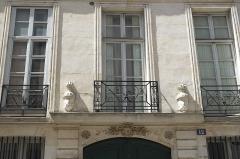 Hôtel de Sourdéac - Deutsch: Petit Hôtel de Sourdéac, Rue de Condé n° 12, im 6. Arrondissement in  Paris (Île-de-France/Frankreich)