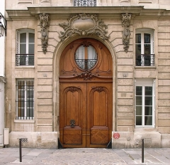 Hôtel de Marsilly -  Doorway, Hotel de Marsilly (1738) by Claude Bonnot, 18 rue du Cherche-Midi, Paris