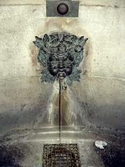 Immeuble -  Fontaine Palatine  Rue Garancière, Paris, VIe arrondissement  Fontaine publique élévée par la princesse Anne de Bavière en 1715. Après la démolition des communs de son hôtel particulier auxquels elle était adossée, un nouvel immeuble fut construit en 1913. La fontaine y fut restituée à son emplacement initial.   Photographe: Clio20 (2005)