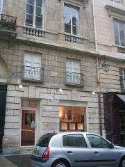 "Immeuble - English: 12, Rue de l'Odeon Paris, France (where Sylvia Beach's bookstore ""Shakespeare & Company"" was located)"