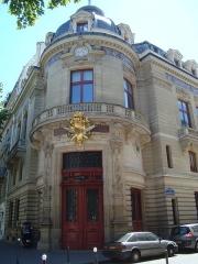 Immeuble du Cercle de la Librairie - English:   The Cercle de la Librairie (built in 1879 by the architect Charles Garnier) at boulevard Saint-Germain in Paris