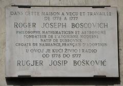 Maison -  Roger Joseph Boscovich plaque - 6, rue de Seine, Paris 6