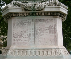 Monument du Maréchal Ney - English: One of the 4 faces of the pedestal of the statue of Michel Ney