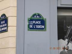 Place de l'Odéon : le sol - English: Place d'Odeon, Paris