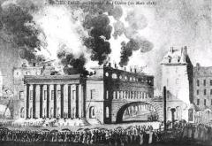 Théâtre de l'Odéon -  Théâtre de l'Odéon, l'incendie 1818