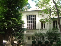 Immeuble et musée Delacroix - English: Delacroix Museum - The Studio from the Garden, Paris