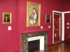 Immeuble et musée Delacroix - English: Delacroix Museum in Paris, view of the Bedroom