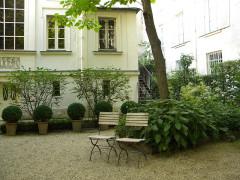 Immeuble et musée Delacroix - English: Museum Delacroix, (garden), Paris