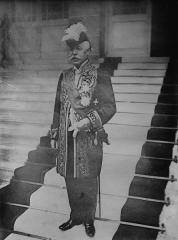 Hôtel de Beauharnais, actuellement résidence de l'ambassadeur d'Allemagne -  Paris, Baron Von Schon [i.e., Schoen], German Ambassador   Photograph shows German diplomat Wilhelm von Schoen (1851-1933) in Paris, France.