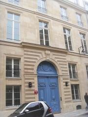 Hôtel de Sénecterre  , dit aussi de la Ferté Saint-Nectaire, actuellement  école et ministère de l'artisanat et du commerce - Français:   n°24 rue de l\'Université (Paris)