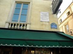 Hôtel de Vilette ou de Bragelongue - English: Quai Voltaire, Restaurant Voltaire, Paris