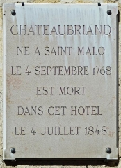 Hôtel -  Read more about this French writer here: en.wikipedia.org/wiki/Fran%C3%A7ois-Ren%C3%A9_de_Chateaub...