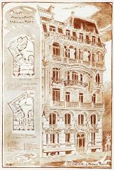 Immeuble - Українська: Дім у Парижі. Рисунок Франциска Мончинського