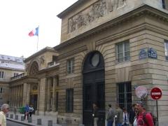 Ancien hôtel de Salm, actuel Palais de la Légion d'Honneur - English: The main entry to the headquaters of the French Legion of Honnor