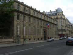 Ancien hôtel de Salm, actuel Palais de la Légion d'Honneur - English: The entrance to the French Legion of Honor headquarters from the Solferino street in Paris