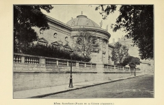 Ancien hôtel de Salm, actuel Palais de la Légion d'Honneur - English:  Identifier: frencharchitects00dilk (find matches)  Title: French architects and sculptors of the XVIIIth century  Year: 1900 (1900s)  Authors:  Dilke, Emilia Francis Strong, Lady, 1840-1904  Subjects:  Architects Sculpture, French Sculptors  Publisher:  London, G. Bell and sons  Contributing Library:  Getty Research Institute  Digitizing Sponsor:  Getty Research Institute    View Book Page: Book Viewer  About This Book: Catalog Entry  View All Images: All Images From Book  Click here to view book online to see this illustration in context in a browseable online version of this book.    Text Appearing Before Image:  amegift for ornamental design commends the lovely designs in the volume of Cheminees et details, which are remarkable for brilliant taste in the employment of coloured marbles, the effect of which is sharply stimulated by little touches of pure colour that suggest the reference to Pompeian models. But Bellanger, architecte et dessinateur des menus plaisirs du roi, 3 plunged headlong into the more graceless forms of the revolutionary movement. He became l\'un des architectes des monuments publics, and we find him paying homage to the ruling fashion by planning a Theatre des Arts of imposing dimensions, in front of which a triumphal column should have been erected to Commerce, to the Sciences, to the Arts, and to Republican Virtues! 4 1 1744-1818. 3 Admirable reproductions of this building, which, I am told, is about to be pulled down, are given by Pfnor in his volume, L\'Architecture, etc., de l\'Epoque Louis XVI. 3 Œuvres de Bellanger, t. I., Cab. des Estampes. 4 Ibid., t. IV., Cab. des Estampes. 32  Text Appearing After Image:  One hotel, built at this date, seems to me to exhibit that free Jacques-movement of the builders mind which is indispensable to the q£®j j beauty of his work. I speak of the beautiful Hotel Salm, and hisnow the Palais de la Legion d\'Honneur. Indirectly, the ho