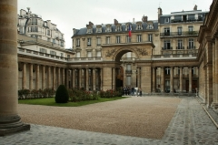 Ancien hôtel de Salm, actuel Palais de la Légion d'Honneur - Français:   Cour de l\'Hôtel de Salm, pendant les journées du Patrimoine 2007.