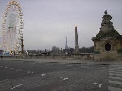 Pont de la Concorde -  Grande roue sur la place de la Concorde à Paris