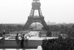 Pont d'Iéna - Magyar: a Jéna híd a Szajnán és az Eiffel-torony a Chaillot-palotától nézve.