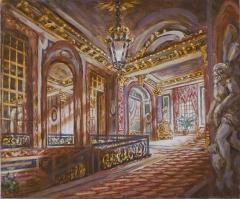Ancien hôtel de Béarn, actuellement ambassade de Roumanie - English: Interior of the Hotel de Béhague, Paris. Tempera on paper lined on canva; 40x50 cm; 2013; private collection, Brussel
