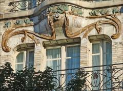 Céramic Hôtel -  Hôtel Céramic de l'architecte Jules Lavirotte (1864-1929), un des plus grands architectes  de l'art nouveau. Immeuble conçu en 1904 recouvert de grès de Bigot 34 avenue de Wagram, Paris fr.wikipedia.org/wiki/Jules_Lavirotte
