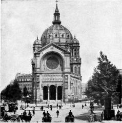 Eglise Saint-Augustin - English:   Photo, Neurdein.  Church of St Augustin, Paris. (Baltard). Illustration from 1911 Encyclopædia Britannica, article Architecture.