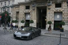 Hôtel Crillon -  English registered Ferrari at Hotel Crillon, Place de la Concorde, Paris.