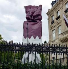 Hôtel Landolfo-Carcano, actuellement ambassade du Qatar -  Paris, Avenue des Champs Elysées