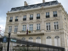 Hôtel Landolfo-Carcano, actuellement ambassade du Qatar -  Qatari Embassy, Paris, France.