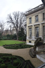 Ancien hôtel Moïse de Camondo, actuellement musée Nissim de Camondo -  Garden in Hôtel Moïse de Camondo