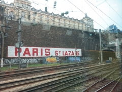 Lycée Chaptal - English: The lycée Chaptal above the railways tracks of the gare Saint-Lazare in Paris