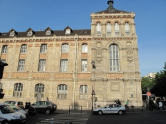 Lycée Chaptal - English:   Lycée Chaptal, Paris, on the side of the rue de Rome