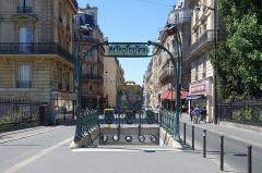 Métropolitain, station Europe -  Europe metro station @ Quartier de l\'Europe @ Paris