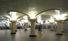 Métropolitain, station Saint-Lazare -  Metro de Paris: Salle de correspondance souterraine de la station  Saint Lazare, dite