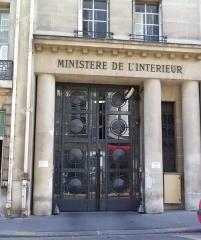 Hôtel du Ministère de l'Intérieur - Français:   11 rue des Saussaies à Paris