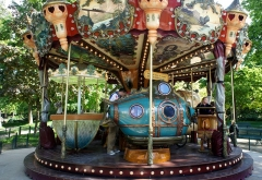 Parc Monceau -  Antique carrousel in Parc Monceau, Paris, France.