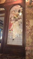 Brasserie Mollard - English: Mosaic on the wall of the brasserie Mollard, Paris 9th arrond.