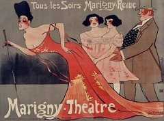 Théâtre Marigny - French painter, poster artist, illustrator and drawer
