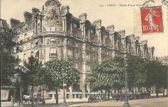 Immeuble, actuellement immeuble du Crédit Commercial de France - Français:   Carte postale ayant circulé en 1909. L\'Élysée-Palace hôtel, 103 avenue des Champs-Élysées (Paris, 8e arrond) et la station de métro Alma (devenue Georges V en 1920).