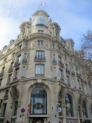 Immeuble, actuellement immeuble du Crédit Commercial de France - Français:   HSBC Paris dans l\'ancien immeuble de l\'Élysée-Palace (Paris VIIIe).